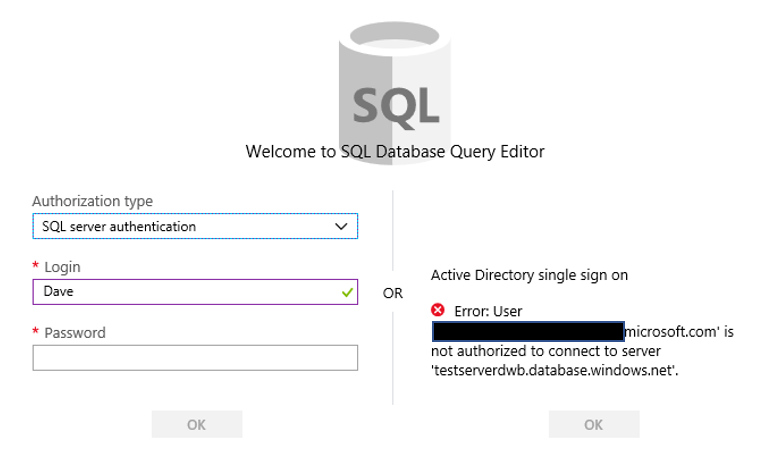 Azure SQL DB Query Editor – Dave Bland